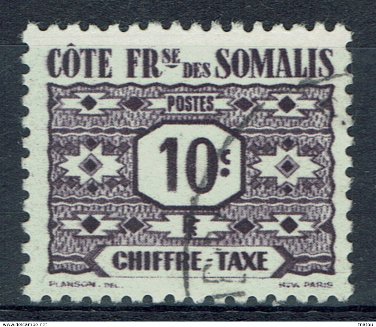 French Somali Coast, 10c., Postage Due, 1947, VFU - Used Stamps