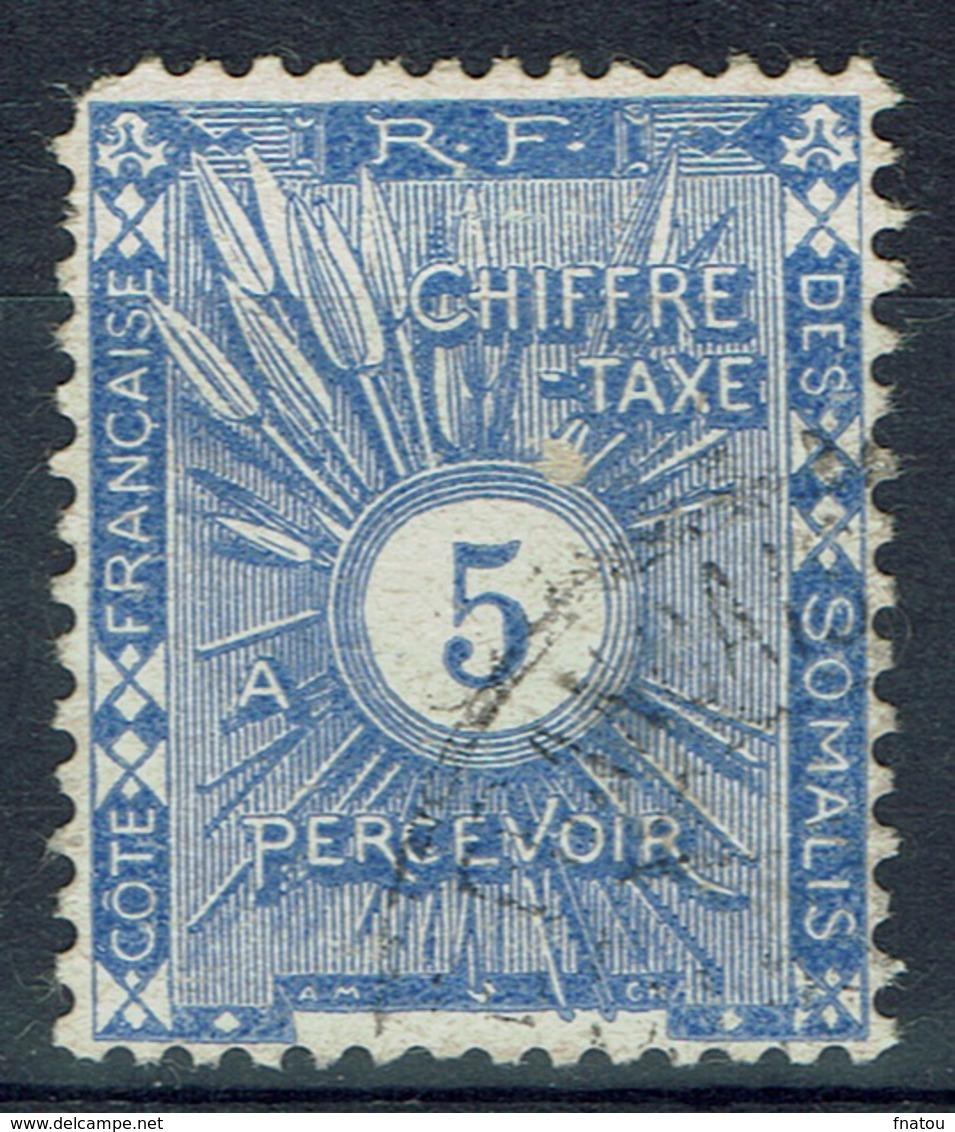French Somali Coast, 5c., Postage Due, 1915, FU - French Somali Coast (1894-1967)