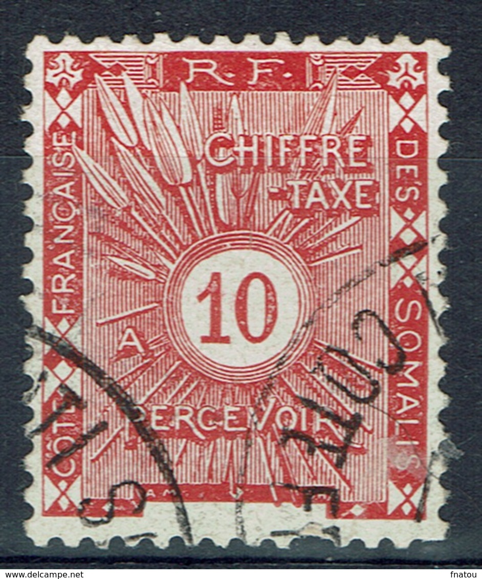 French Somali Coast, 10c., Postage Due, 1915, VFU - French Somali Coast (1894-1967)