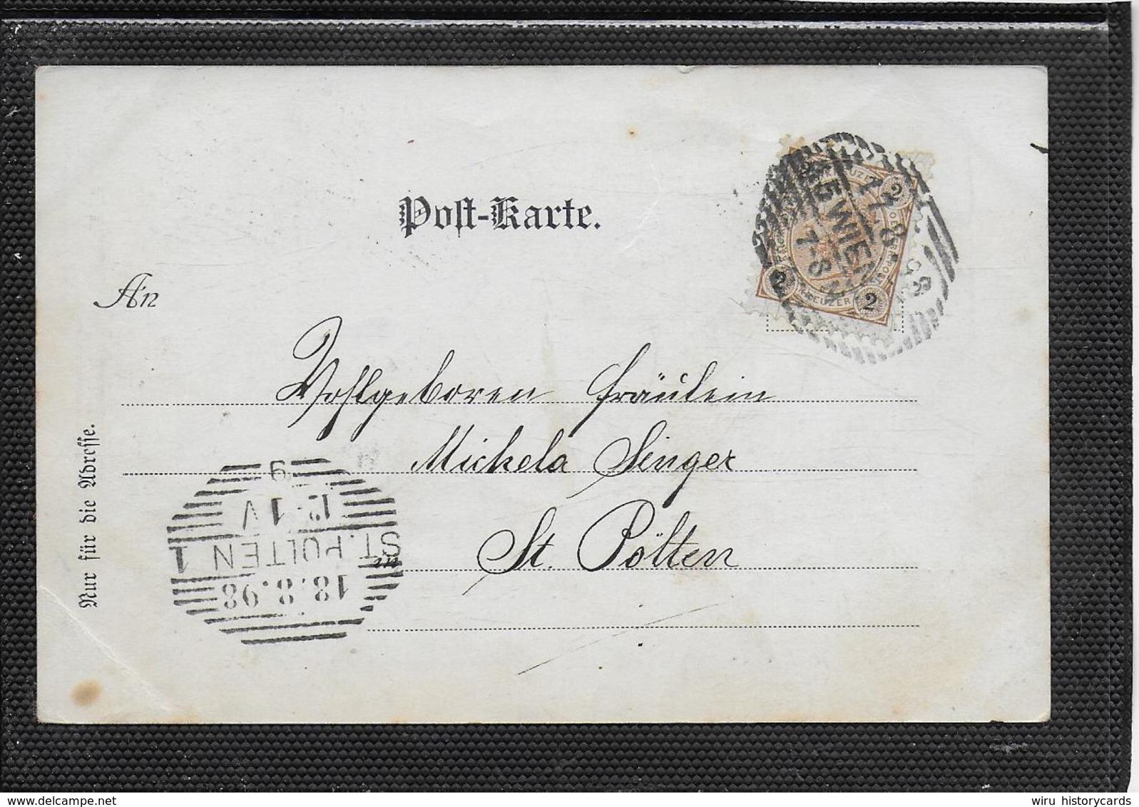 AK 0371  Gruss Aus Wien - Grabmäler V. Beethoven , Mozart & Schubert Um 1898 - Wien Mitte