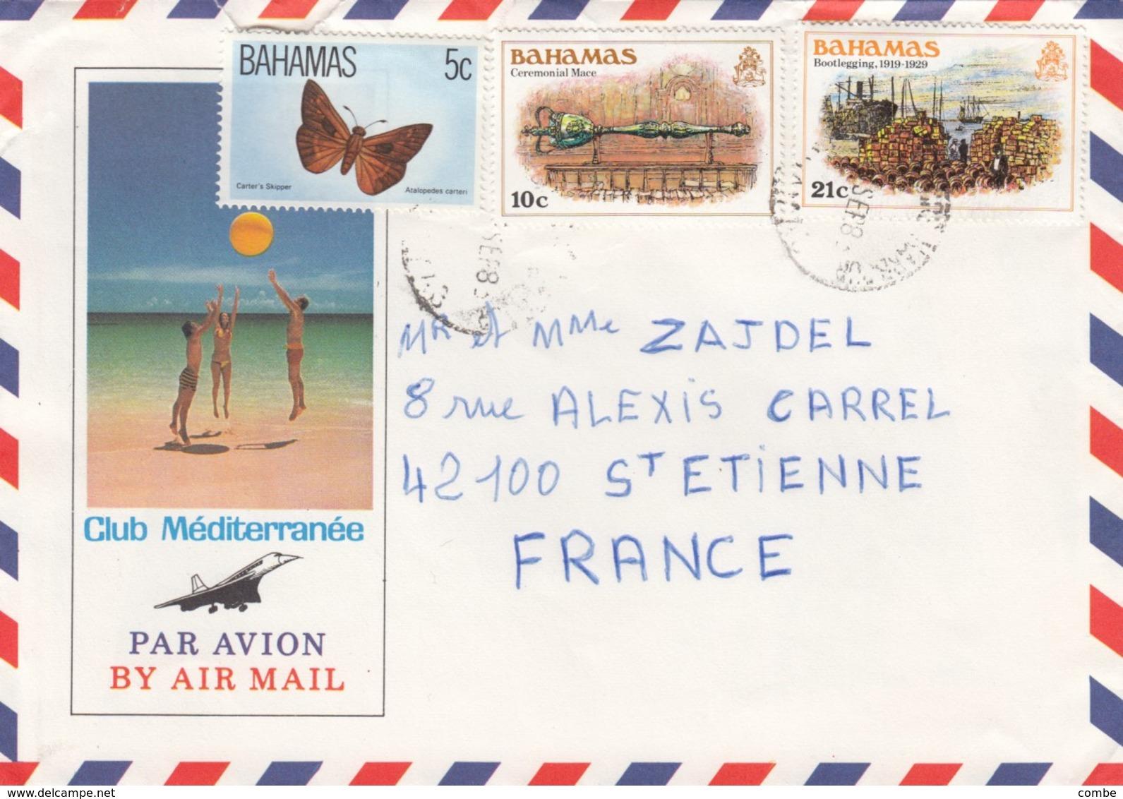 COVER. BAHAMAS TO FRANCE   /   2 - Bahamas (1973-...)