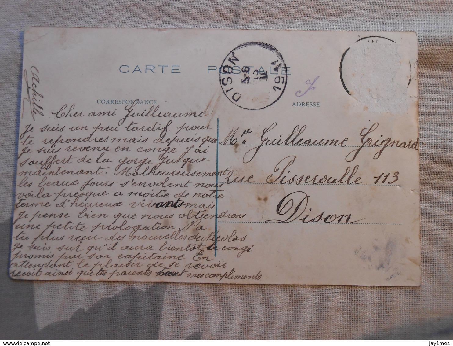 Cpa Werbomont Eglise 1911 - Ferrieres