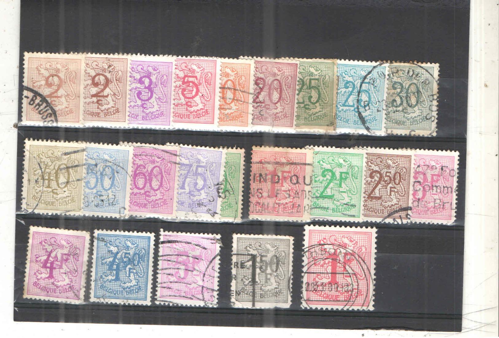 Belgio PO 1951/75 Leone Rampante   Scott.403/426+See Scan On Album Francia; - Belgio