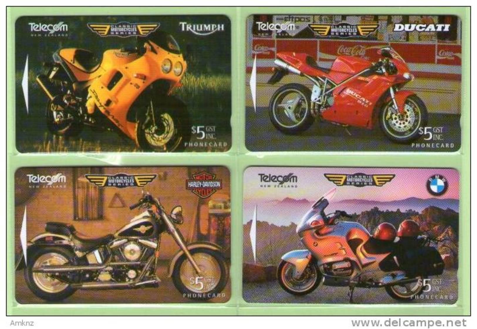 New Zealand - 1996 Classic Motorcycles Set (4) - NZ-D-51/4 - Mint - Neuseeland