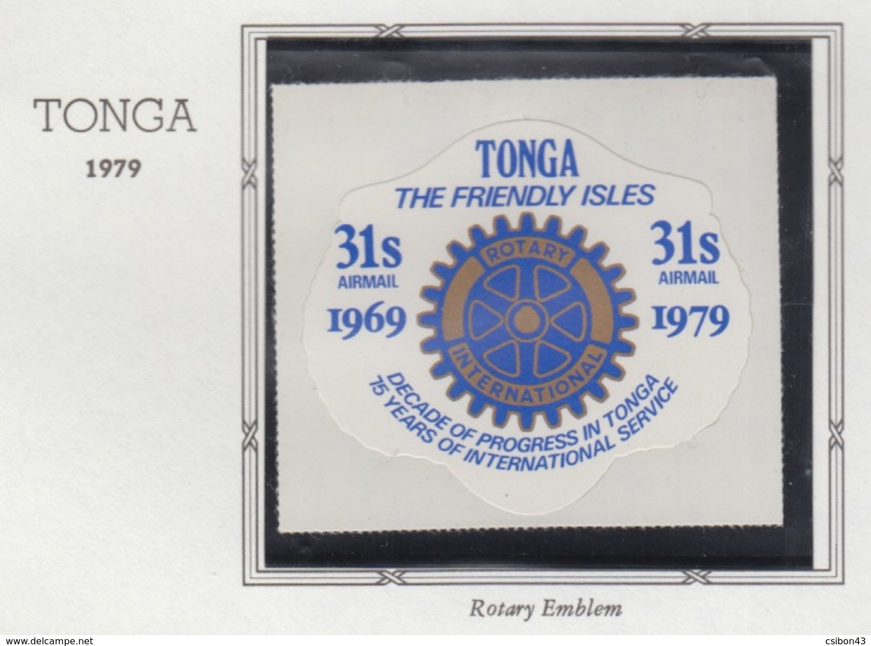 Rotary International 1979 TONGA MNH - Rotary, Lions Club