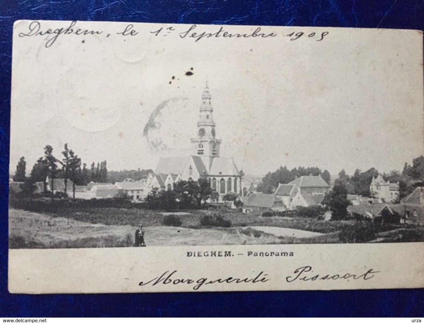 DIEGEM-----cpa--Panorama--1905 - Diegem