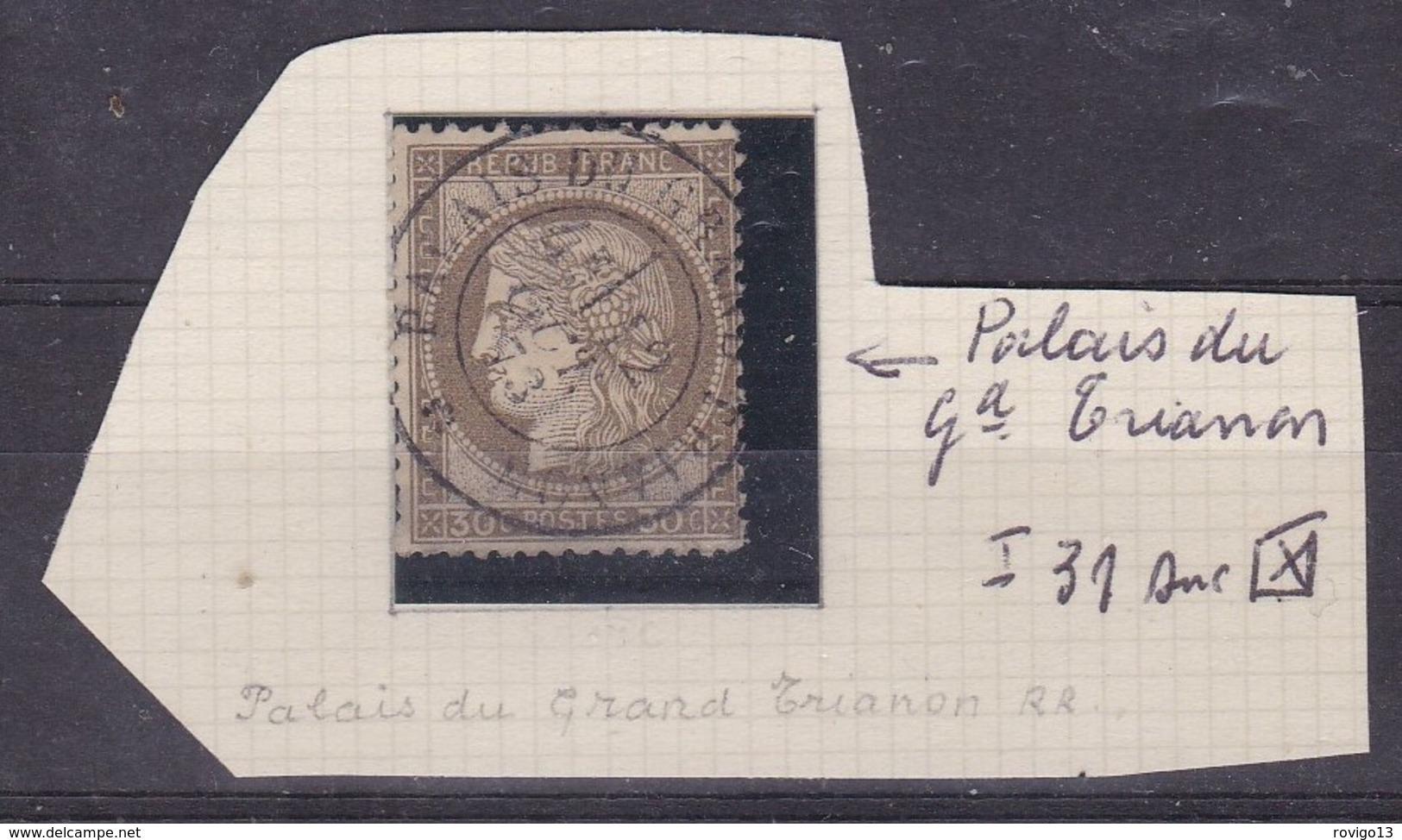 France - Yvert N° 56 Oblitéré Càd Palais Du Gd Trianon - Rare (indice 31 Sur Lettre) - 1849-1876: Classic Period