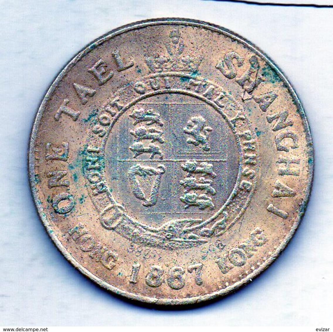 CHINA - SHANGHAI, 1 Tael, Silver, To Identify - China