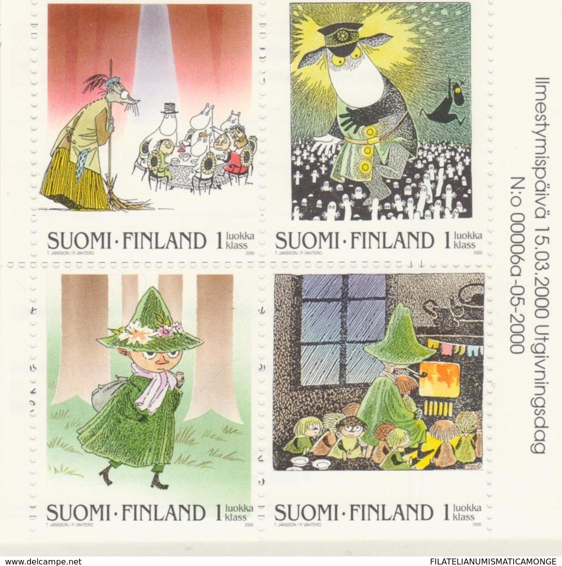 Finlandia 2000  Yvert Tellier  1486a/89a Cuentos Infantiles  ** - Finland
