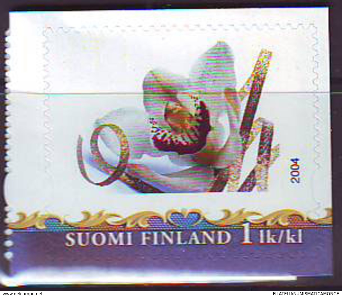 Finlandia 2004  Yvert Tellier  1669 Flor Orquidea ** - Unused Stamps
