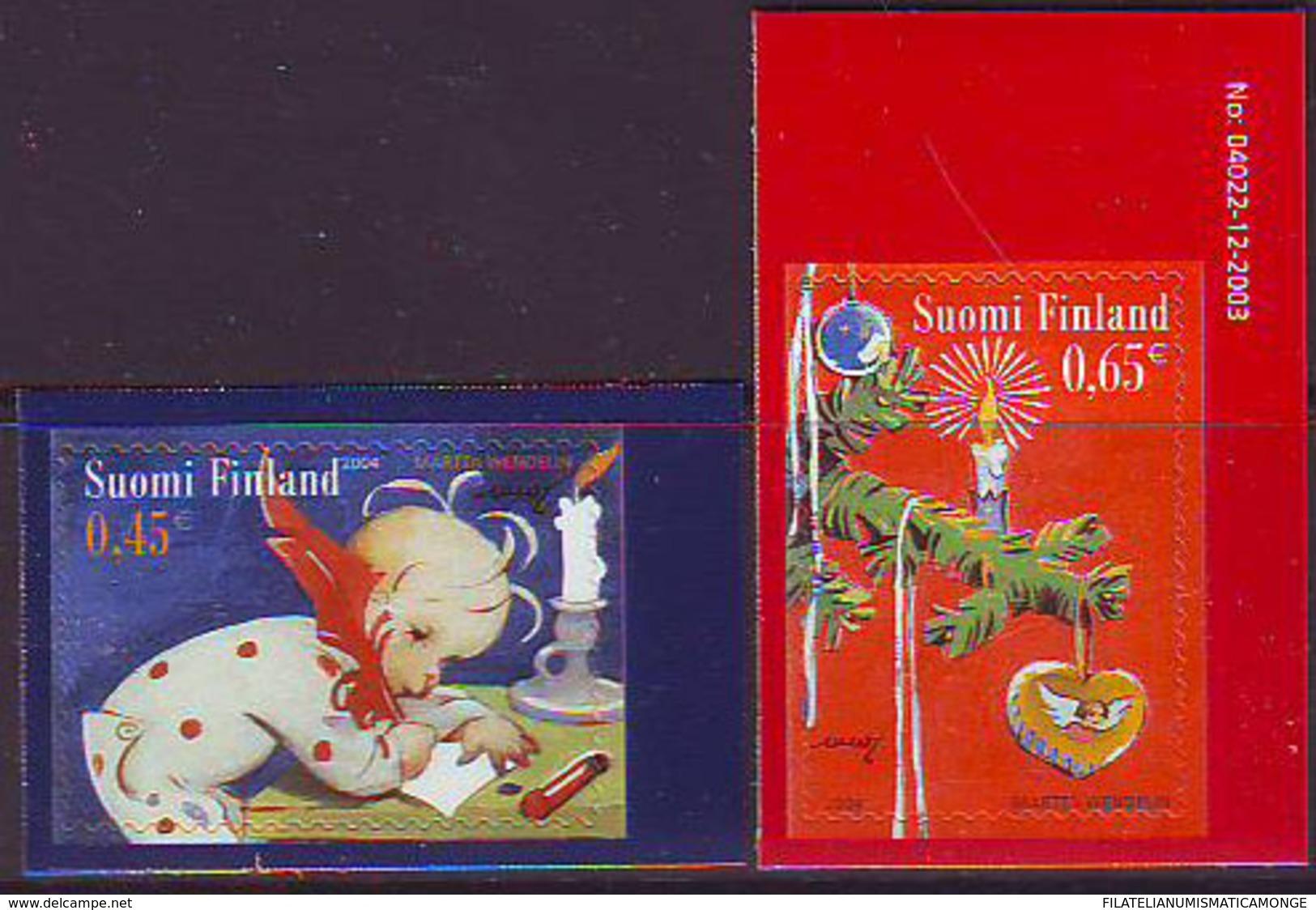 Finlandia 2004  Yvert Tellier  1691/92 Navidad'04  (2s) ** - Finland