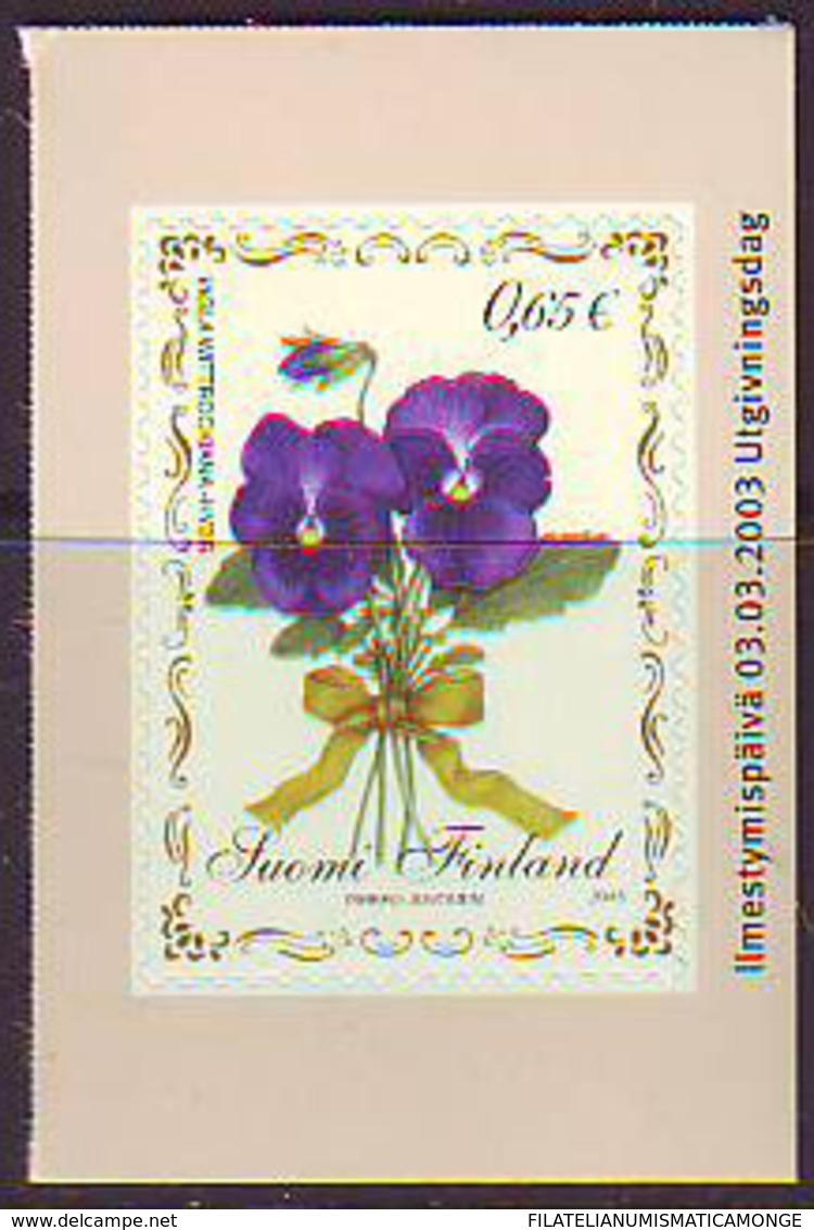 Finlandia 2003  Yvert Tellier  1612 Froe Violeta Adhes. ** - Unused Stamps