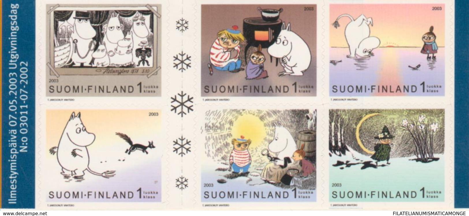 Finlandia 2003  Yvert Tellier  1615/20 Las Moumines/ilustraciones De Crn ** - Unused Stamps
