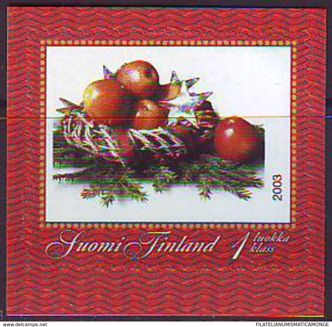 Finlandia 2003  Yvert Tellier  1644 Cuadro De Navidad Adhes. ** - Unused Stamps