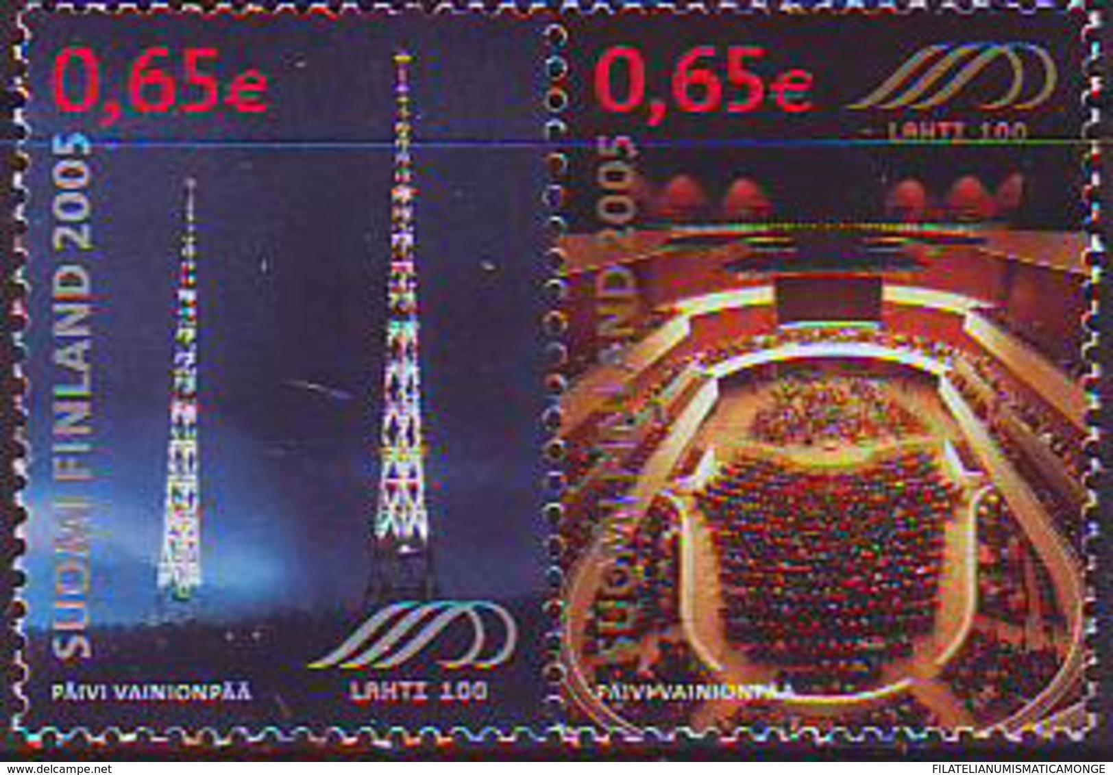 Finlandia 2005  Yvert Tellier  1699/00 400A De La Ciudad De Lathi  (2s) ** - Finland