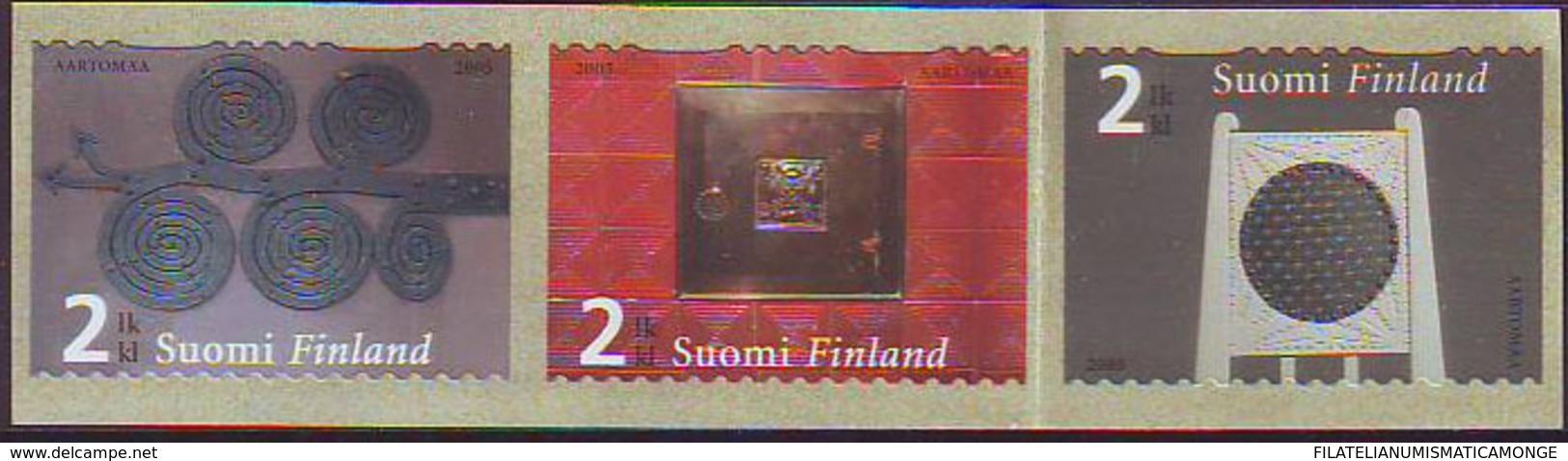 Finlandia 2005  Yvert Tellier  1706/08 Arte Decorativo (3s) ** - Finland