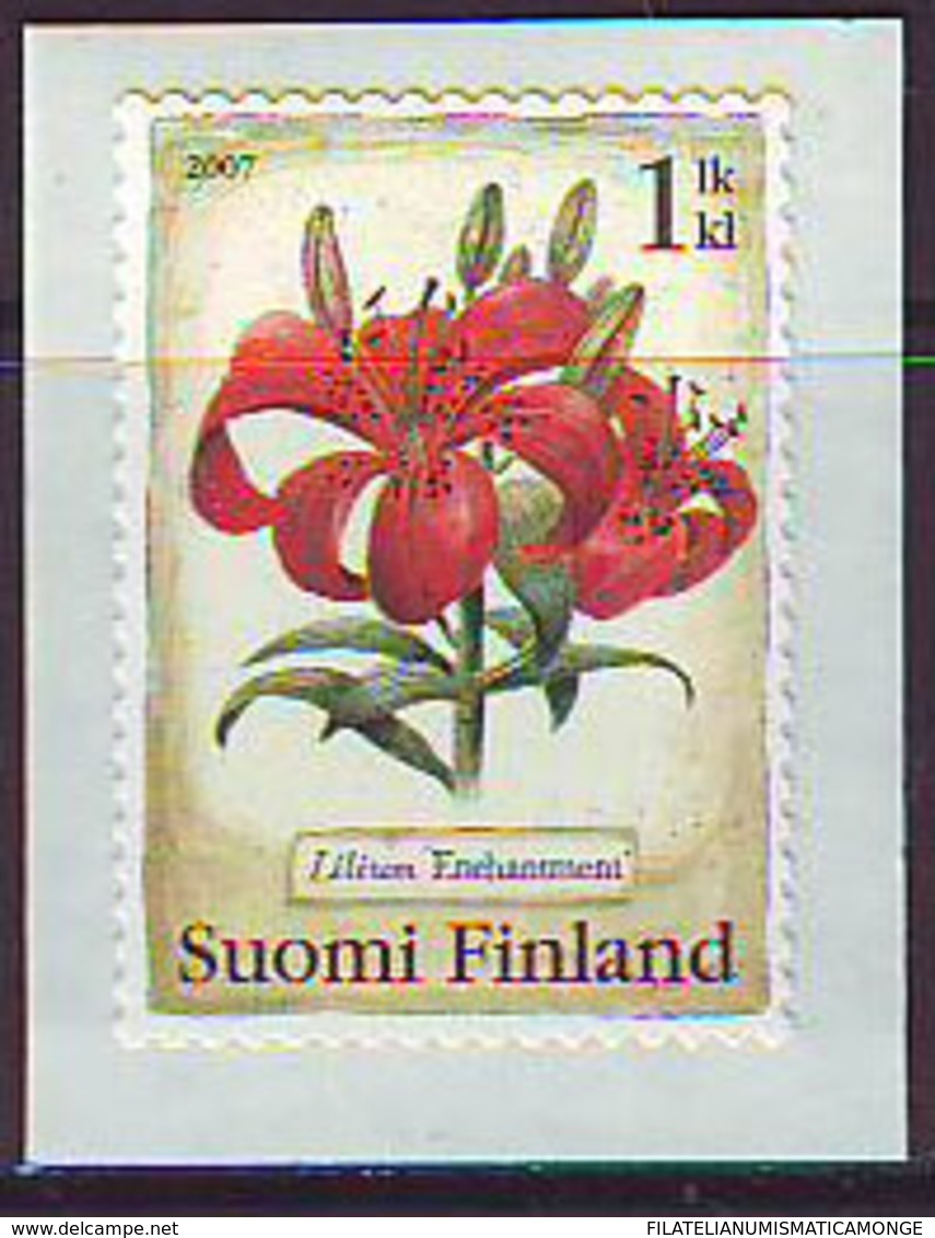 Finlandia 2007  Yvert Tellier  1808 Flor Lis/autoadh. ** - Finland