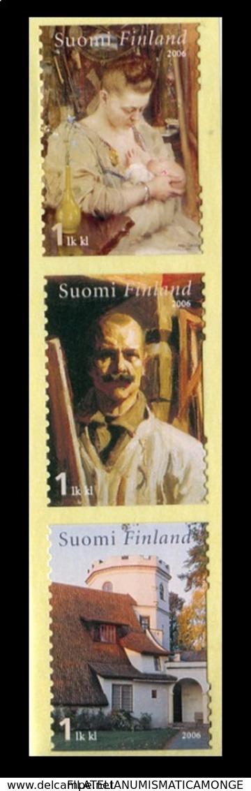 Finlandia 2006  Yvert Tellier  1753/55 Pintura 1a Clase (3s) ** - Ungebraucht
