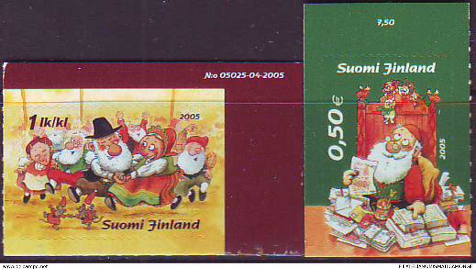 Finlandia 2005  Yvert Tellier  1737/38 Navidad'05 (2s) ** - Finland