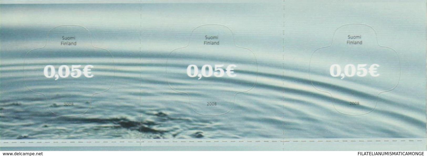 Finlandia 2008  Yvert Tellier  1848/50 El Agua/ Adh.Heliog. ** - Unused Stamps