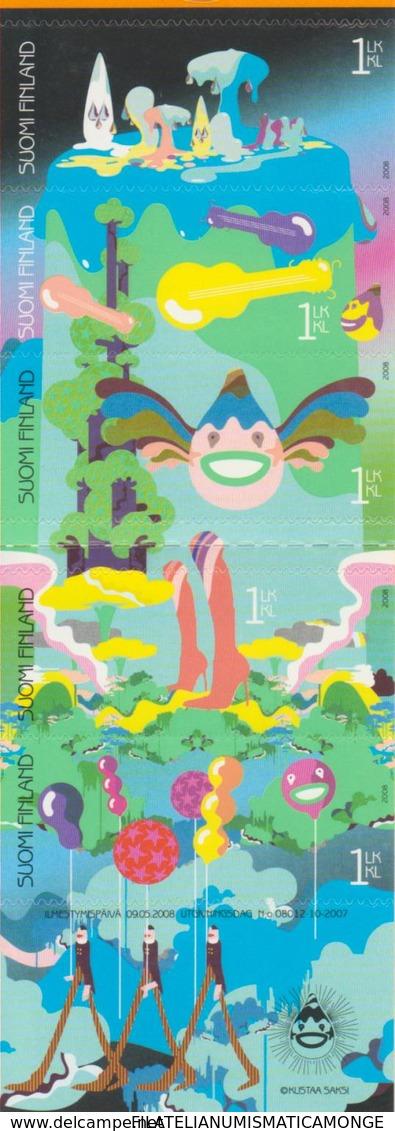 Finlandia 2008  Yvert Tellier  1883/87 Sellos Para Mensajes (5s) Adh.de Carnet - Finland