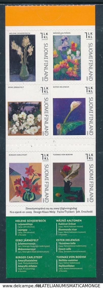 Finlandia 2009  Yvert Tellier  1952/56  Arte Floral II/adh.de Carnet ** - Finland