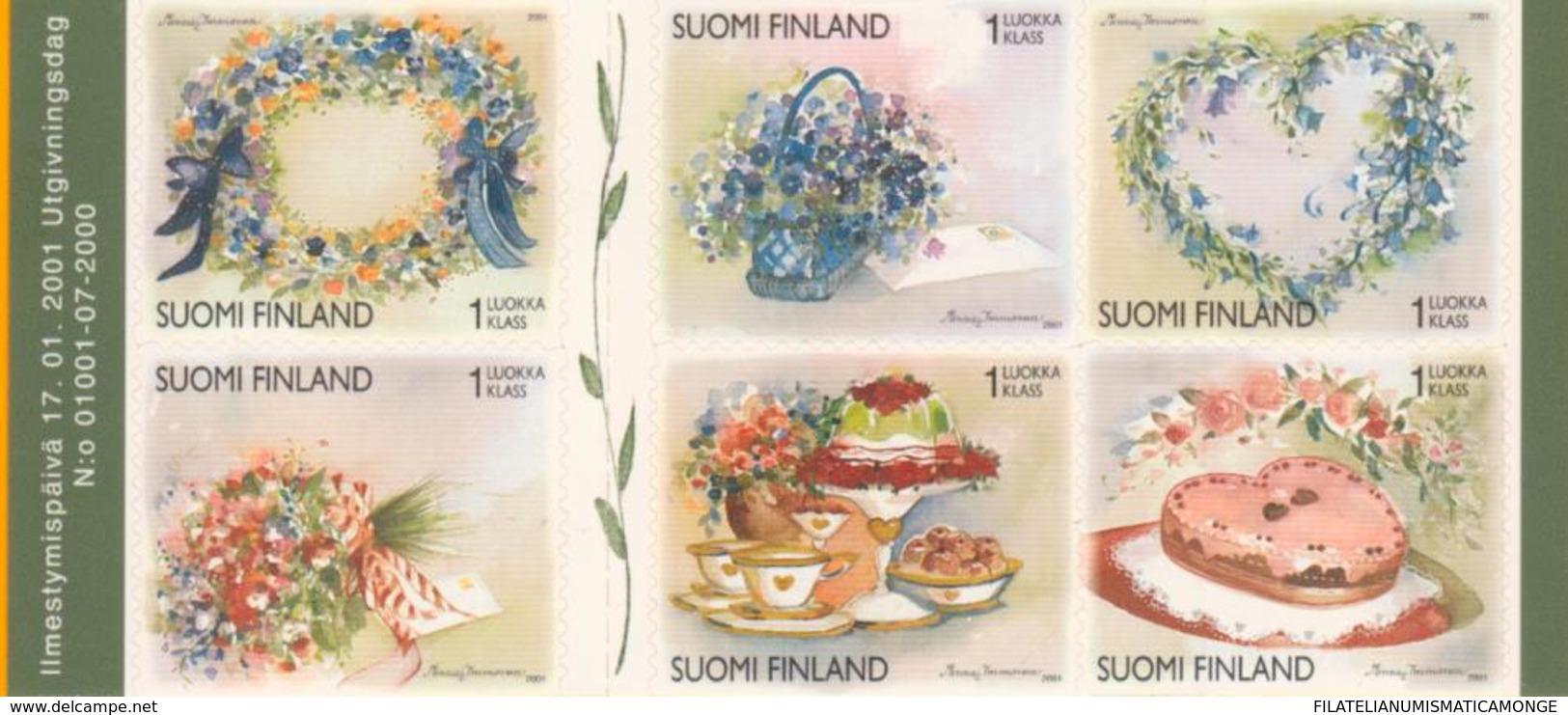 Finlandia 2001  Yvert Tellier  1512/17 Flores Navideñas  ** - Unused Stamps