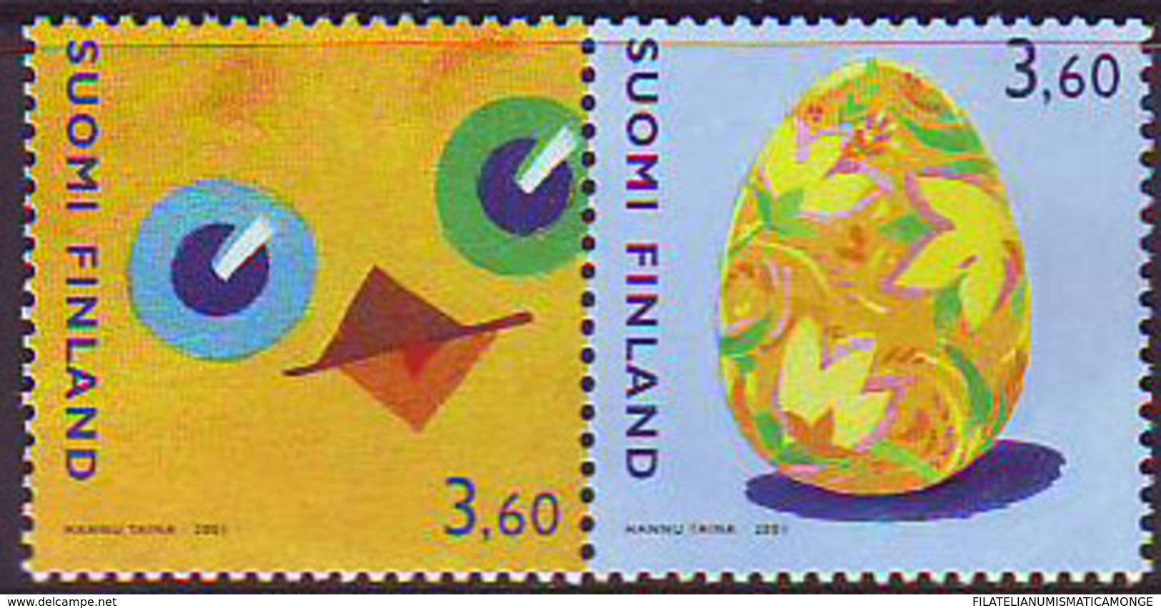 Finlandia 2001  Yvert Tellier  1526/27 Pascua  ** - Unused Stamps