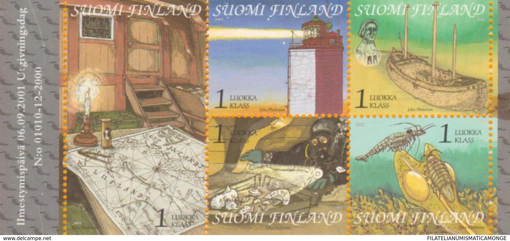 Finlandia 2001  Yvert Tellier  1543/47 Navegacion  ** - Finland