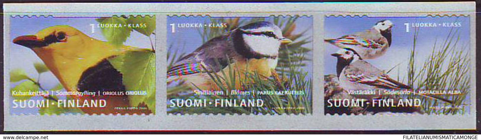 Finlandia 2001  Yvert Tellier  1548/50 Pajaros  ** - Finland