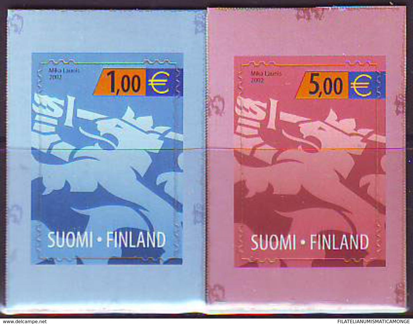 Finlandia 2002  Yvert Tellier  1557/58 Leon Heraldico  ** - Finland