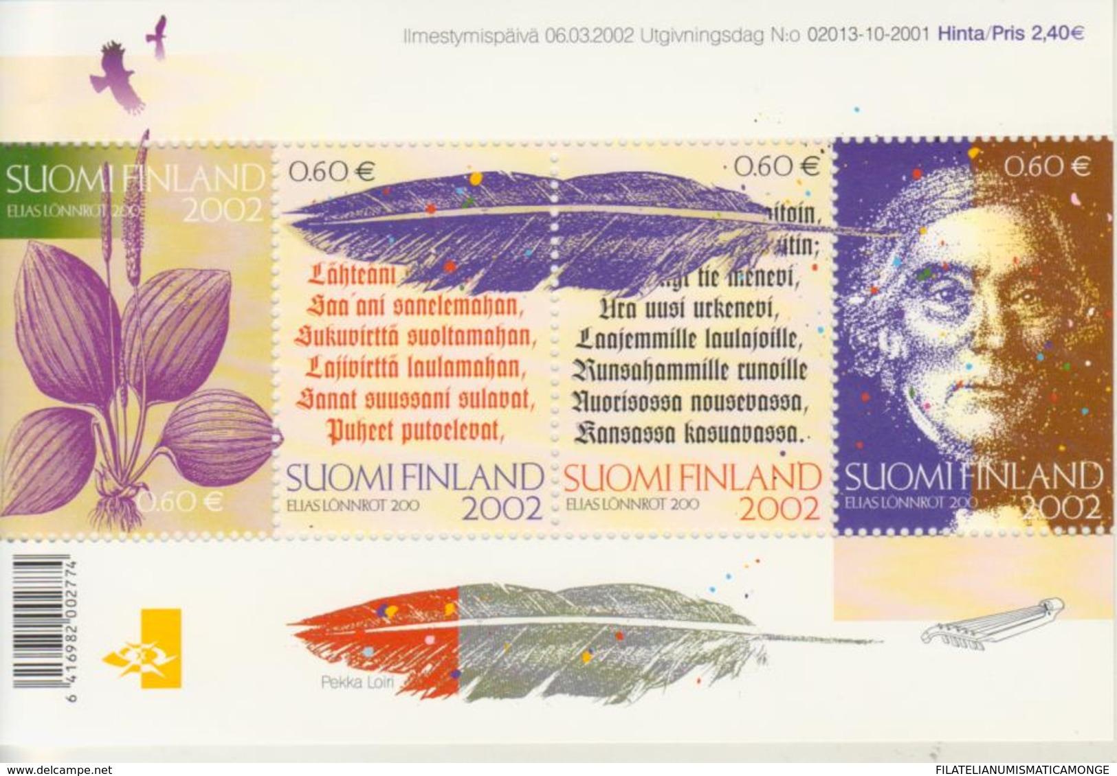 Finlandia 2002  Yvert Tellier  1576/79 Hb 28 ** - Unused Stamps