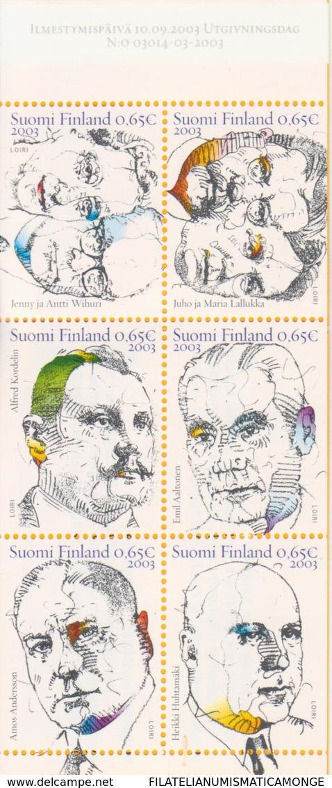 Finlandia 2003  Yvert Tellier  1631/36 Personajes ** - Finland