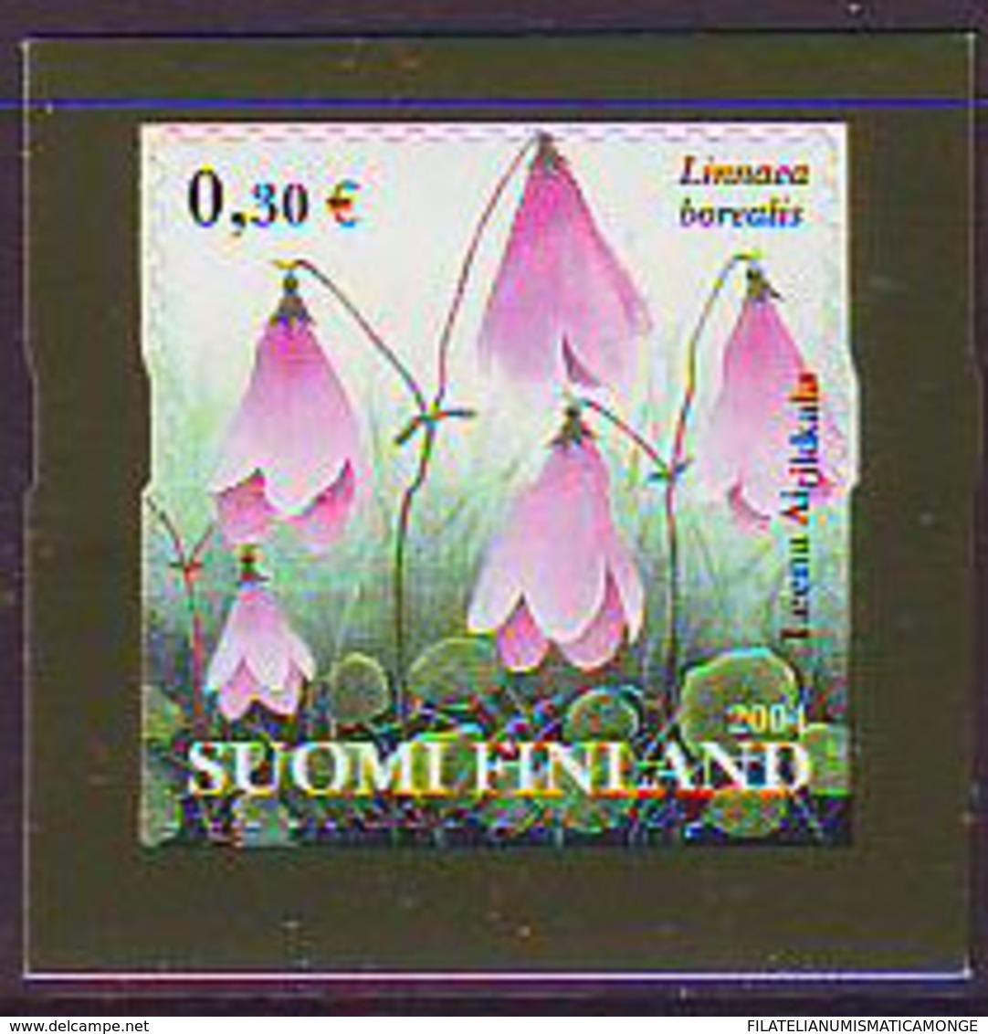 Finlandia 2004  Yvert Tellier  1658 Flor Linnaea ** - Finland