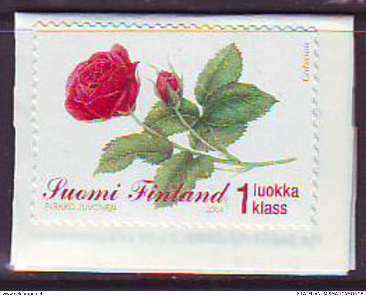 Finlandia 2004  Yvert Tellier  1663 Flor Rosa ** - Unused Stamps
