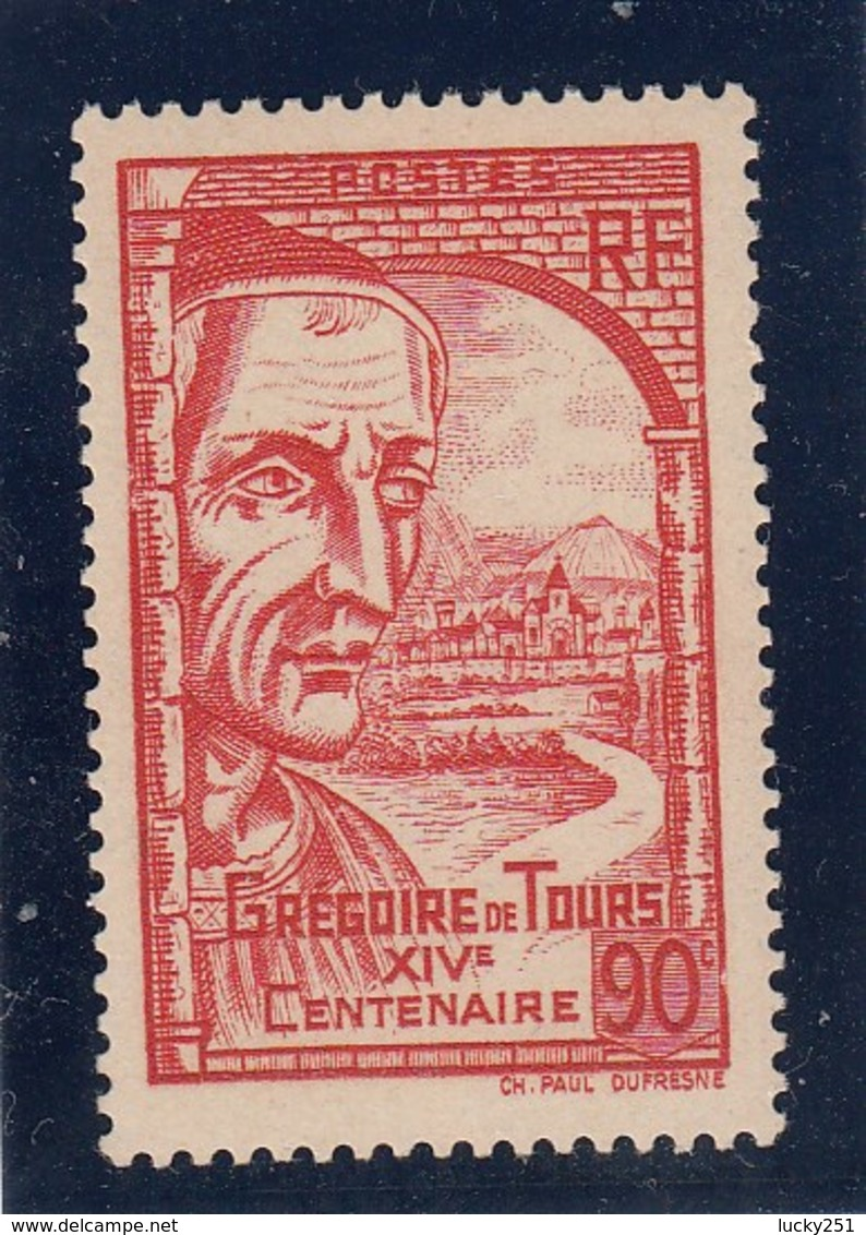 France - 1939 - N° YT 442** - Grégoire De Tours - Nuovi