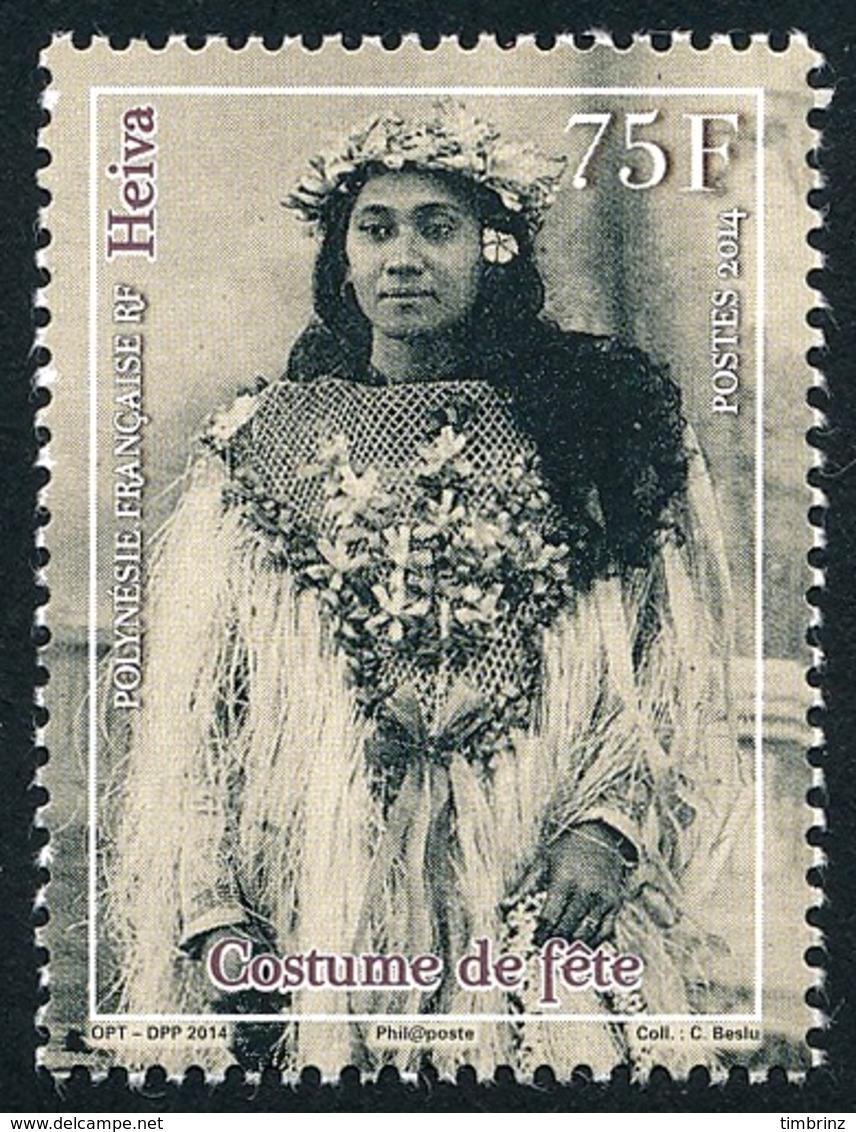 POLYNESIE 2014 - Yv. 1070 **  - Heiva. Costume De Fête  ..Réf.POL24969 - Polynésie Française