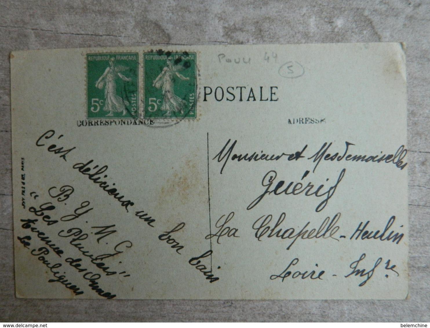 LE POULIGUEN          SCENES DE PLAGE             LECON DE NATATION - Le Pouliguen