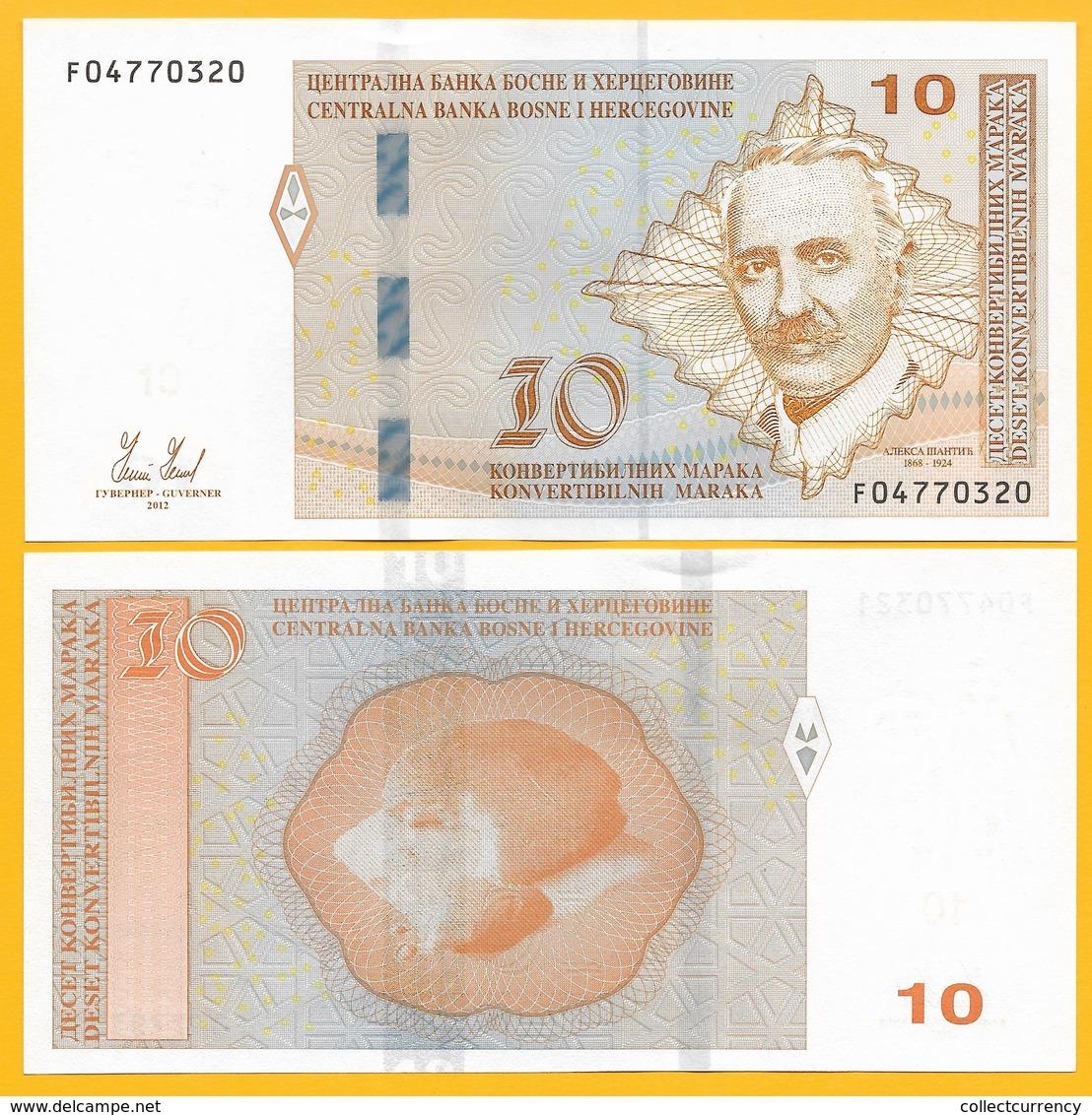 Bosnia-Herzegovina 10 Maraka P-81 2012 UNC Banknote - Bosnia Erzegovina
