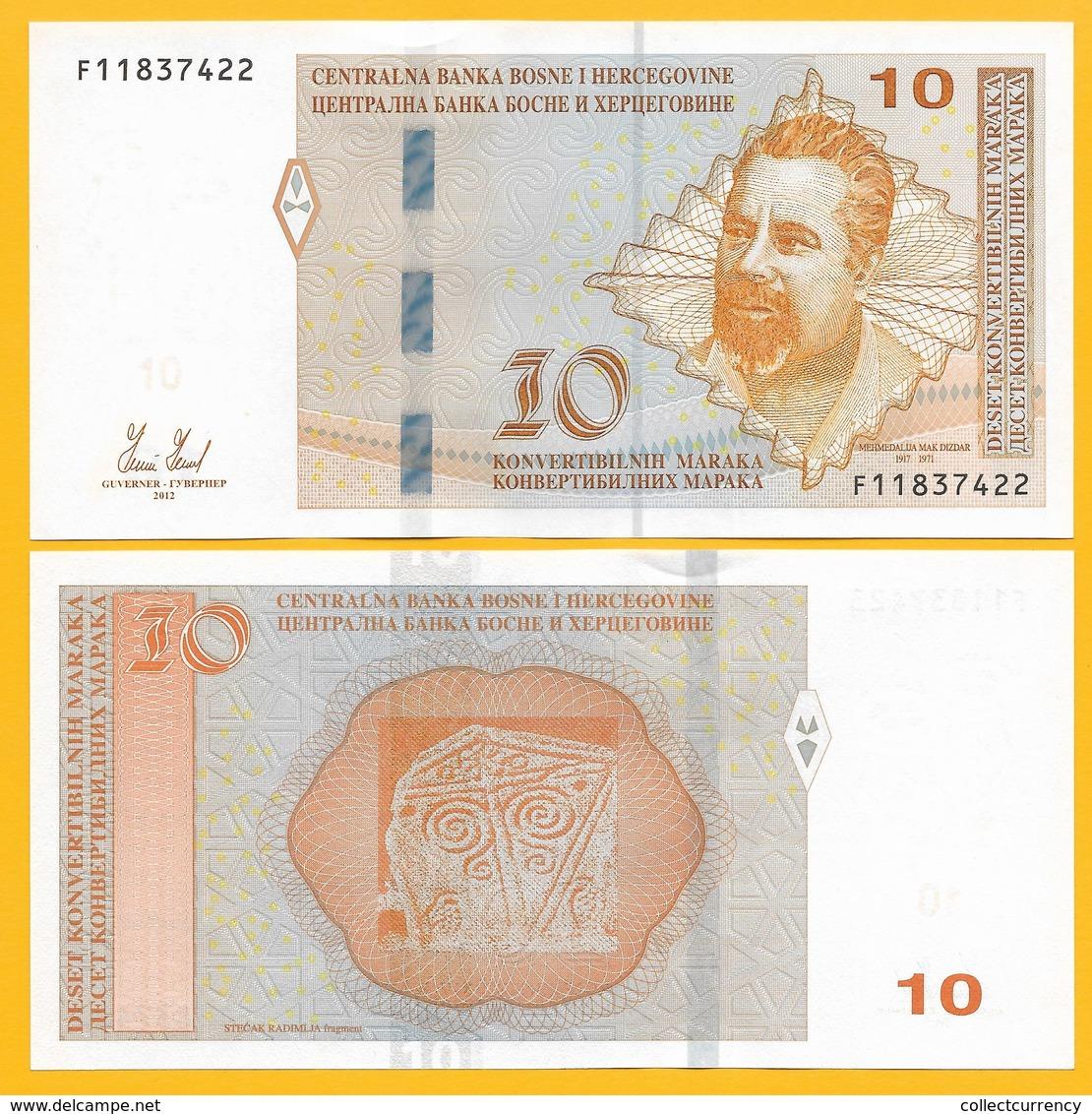 Bosnia-Herzegovina 10 Maraka P-80 2012 UNC Banknote - Bosnia Erzegovina