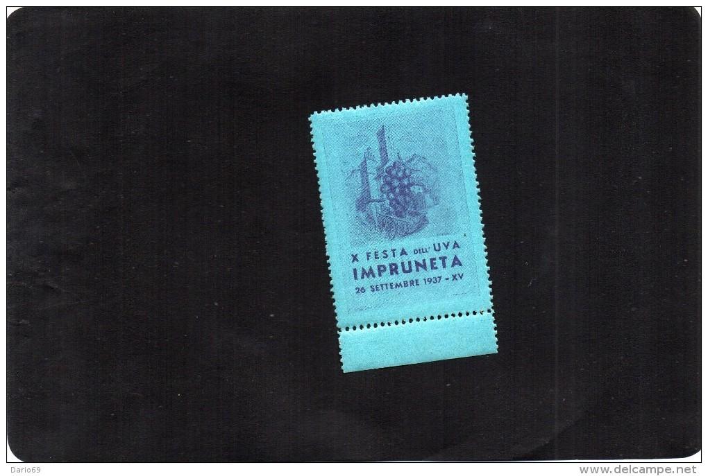 1937 IMPRUNETA  X FESTA DELL' UVA - Erinnofilia