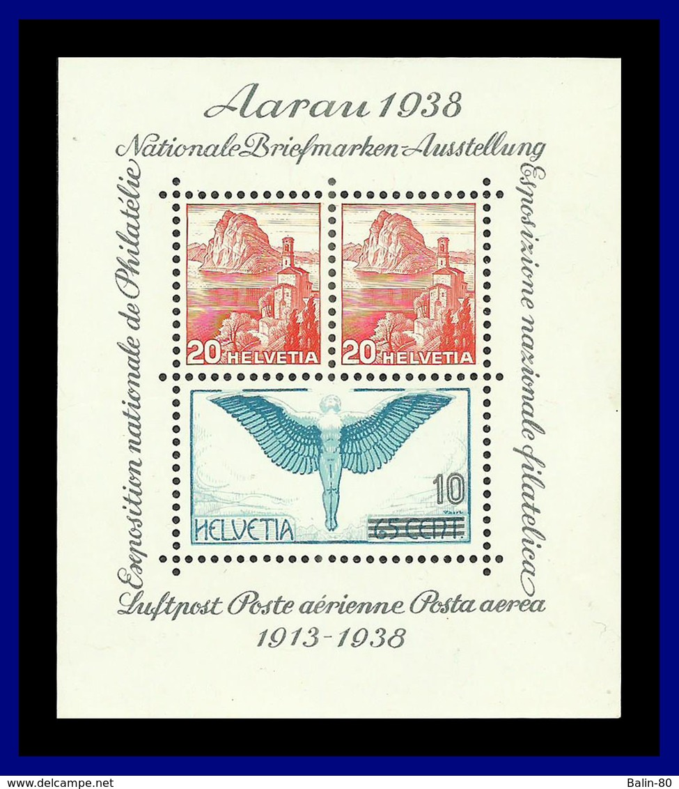 1938 - Suiza - Scott Nº 242 - Aarau Expo - MNH - Lujo - SU- 129 - 03 - Suiza