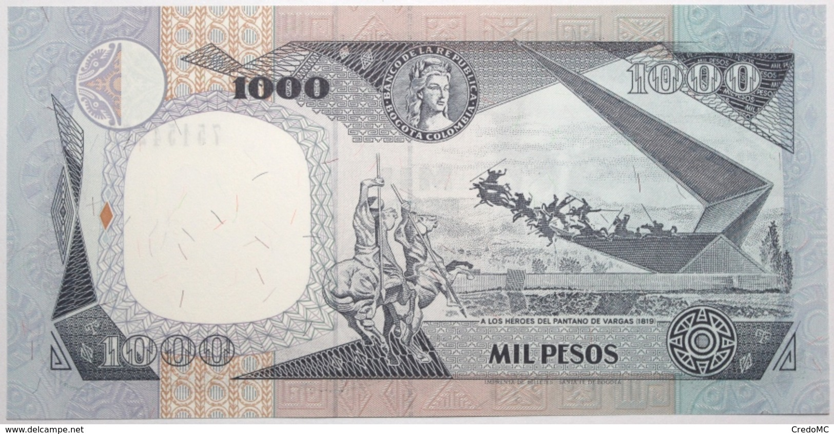 Colombie - 1000 Pesos Oro - 1994 - PICK 438a.2 - NEUF - Colombia
