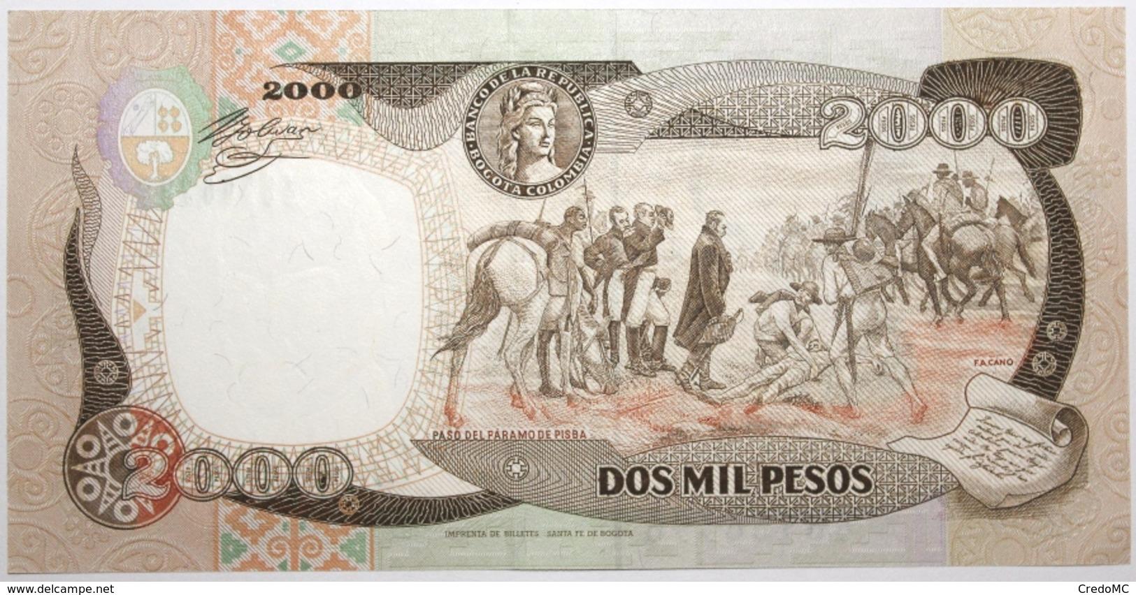 Colombie - 2000 Pesos Oro - 1993 - PICK 439a - NEUF - Kolumbien