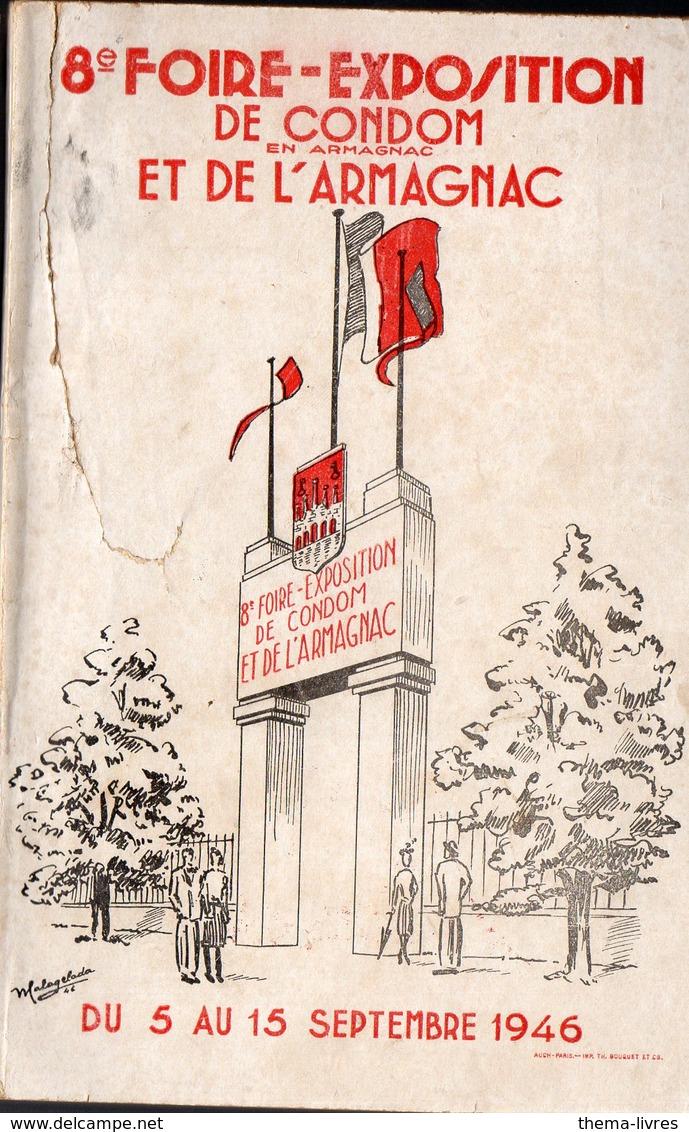 Condom (32 Gers) Plaquette  : Programme De La 8e FOIRE EXPOSITION DE CONDOM   1946 (PPP11420) - Programmes