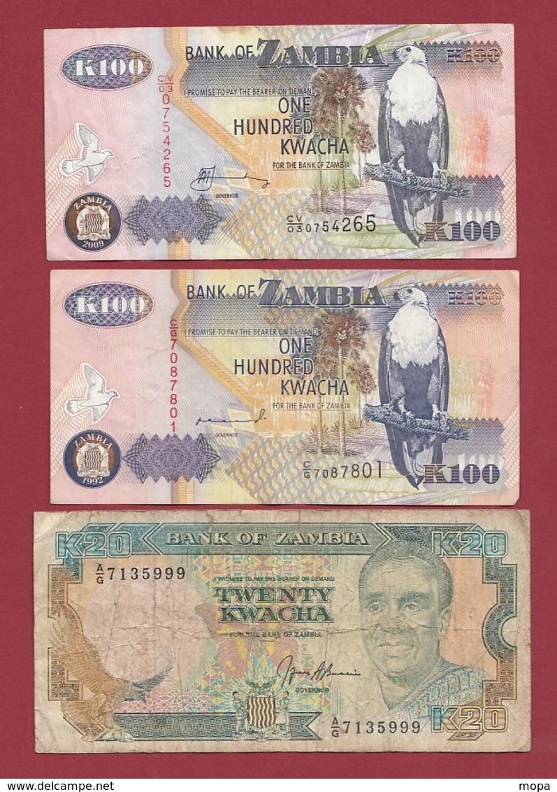 Zambie 3 Billets Dans L 'état Lot N °3---(48) - Zambia