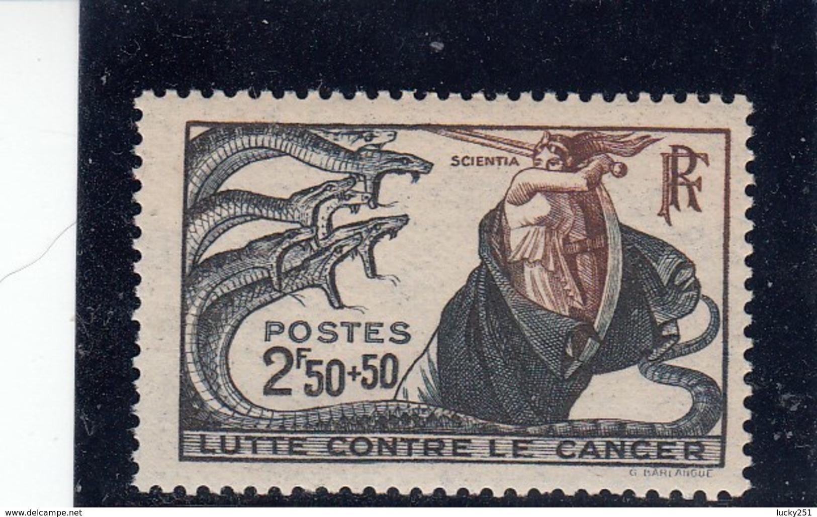 France - 1941 - N° YT 496** - Lutte Contre Le Cancer - Francia