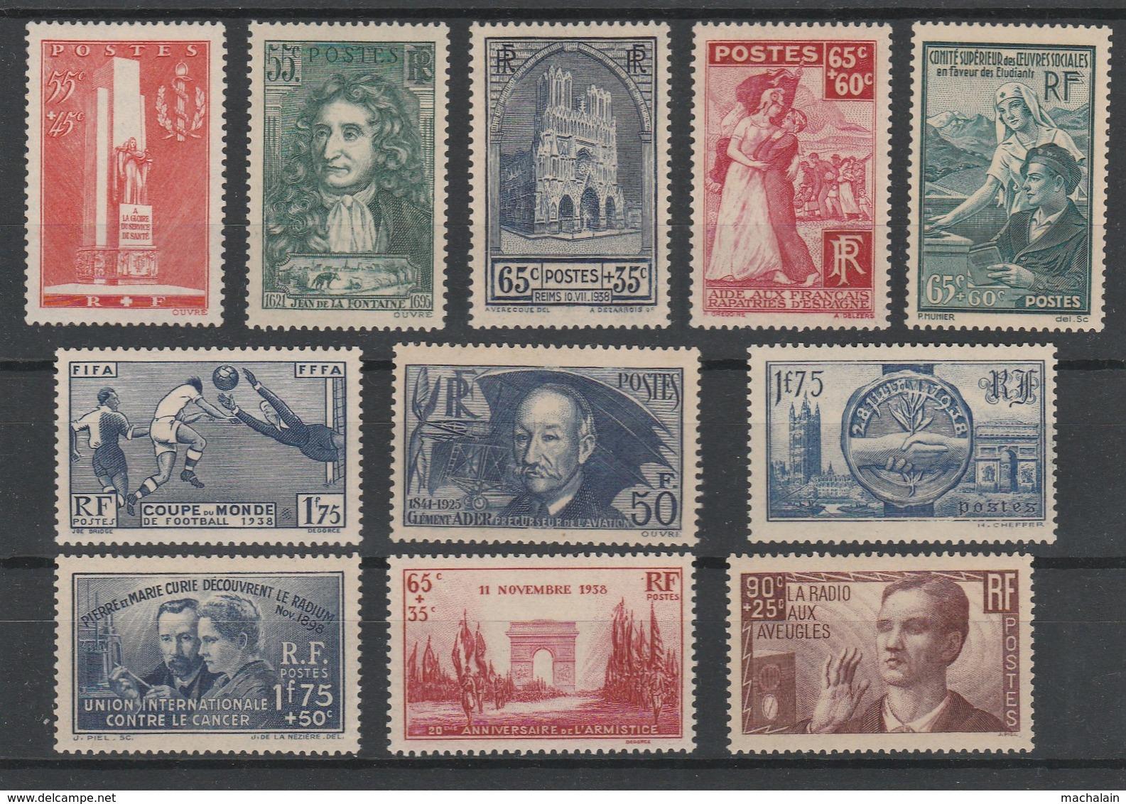 Années 1938 Et 1939 Complètes Neufs** Cote = 1100 € T.B.E - France