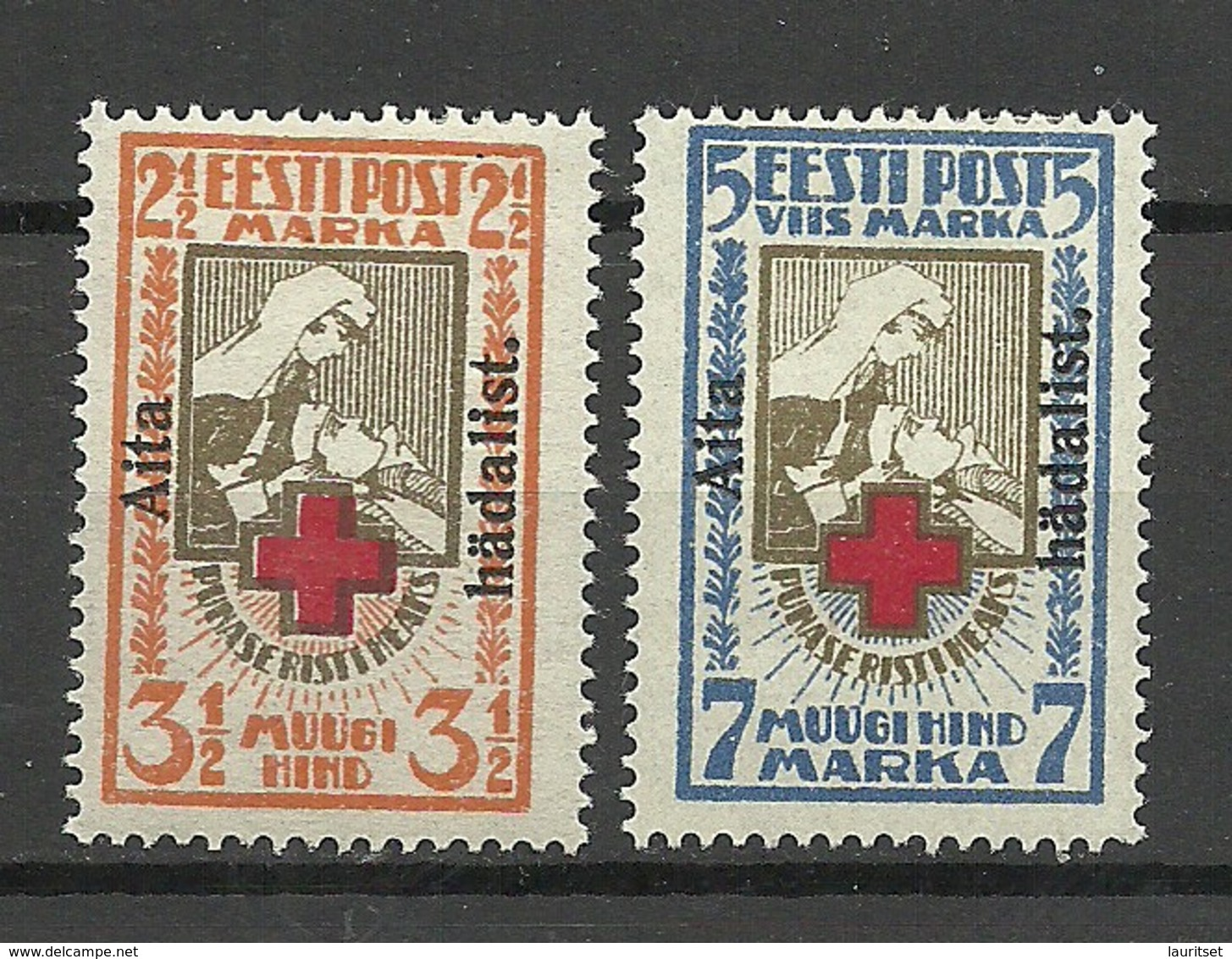 ESTLAND Estonia 1923 Michel 46 - 47 A * - Estland