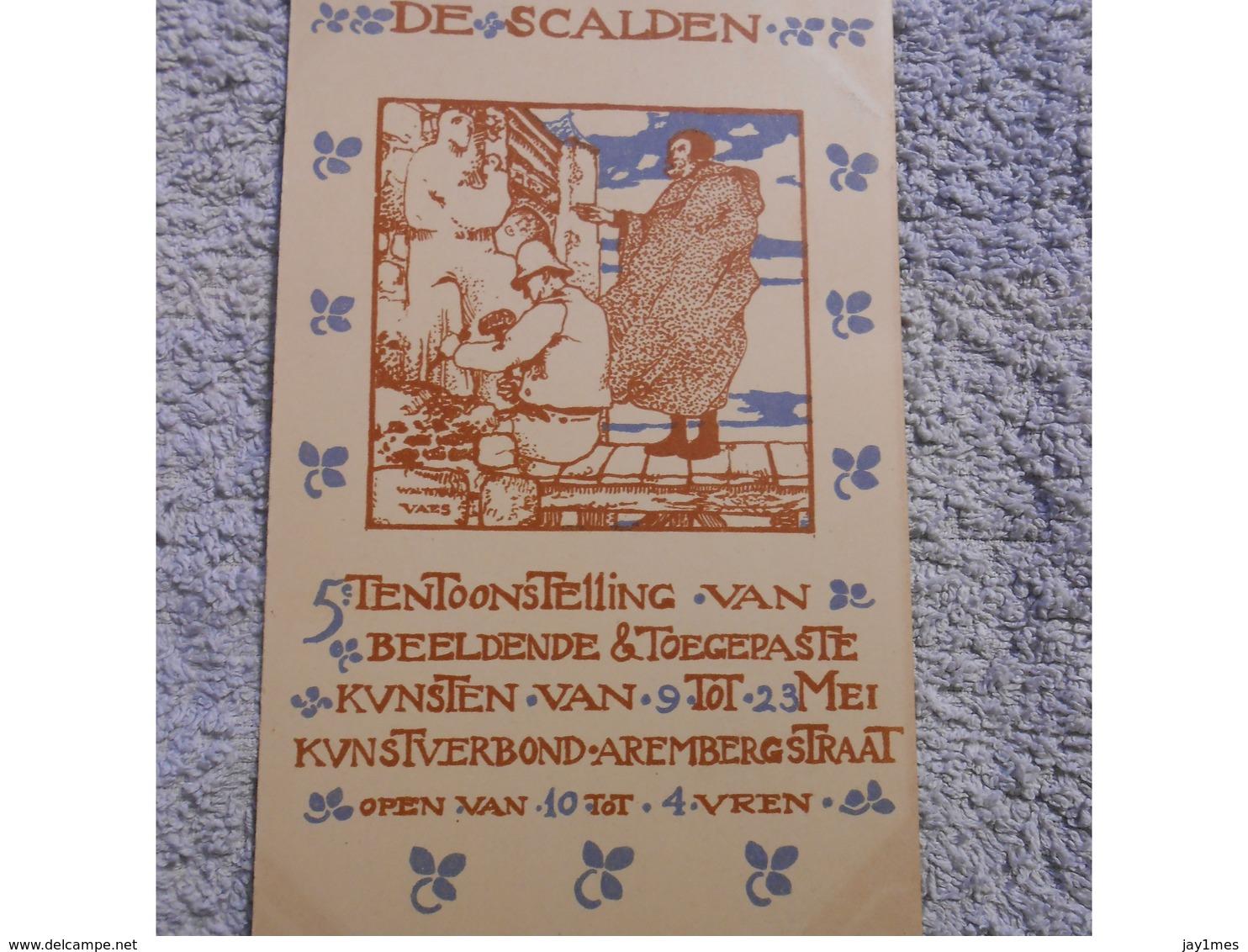 Cpa De Scalden 5eme Tentoonstelling Du 9 Au 23 Mei 1903 - Antwerpen